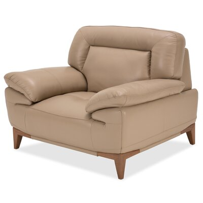 Mia Bella Turano Leather Club Chair