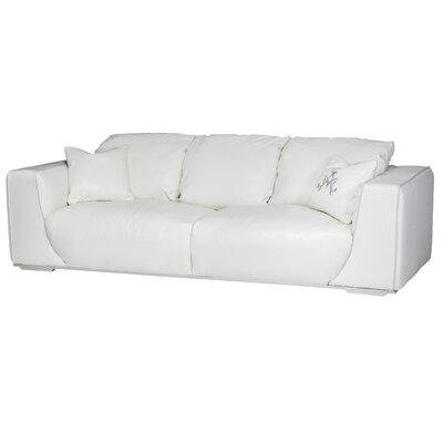 Mia Bella Sophia Mansion Leather Sofa Upholstery: White