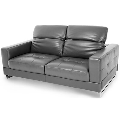 Mia Bella Novelo Leather Loveseat