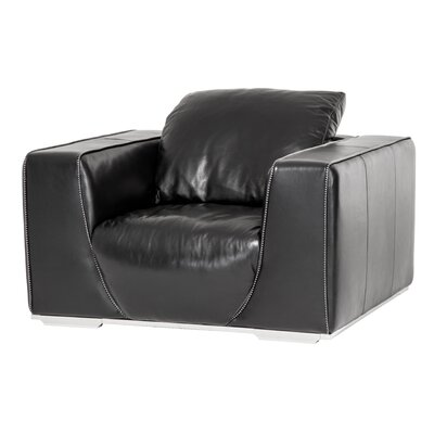 Mia Bella Sophia Leather Club Chair Upholstery: Onyz
