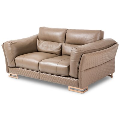 Mia Bella Monica Leather Sofa