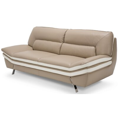Mia Bella Carlin Leather Sofa