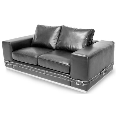 Mia Bella Gianna Leather Sofa