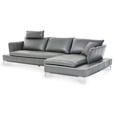 Mia Bella Lazzio Leather Sectional