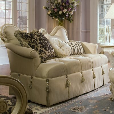Lavelle Loveseat Upholstery: Champagne / Blanc