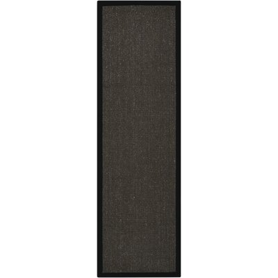 Brilliance Charcoal Area Rug Rug Size: Runner 23 x 76