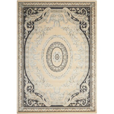 Platine Hand-Woven Beige Area Rug Rug Size: Rectangle 35 x 55