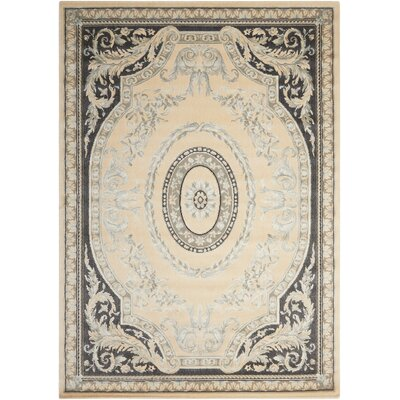 Platine Hand-Woven Beige Area Rug Rug Size: Rectangle 93 x 129