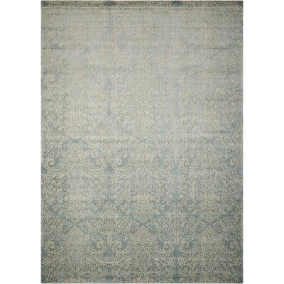 Platine Hand-Woven Blue Area Rug Rug Size: Rectangle 53 x 75