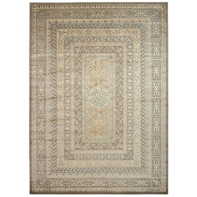 Platine Hand- Woven Beige Area Rug Rug Size: Rectangle 53 x 75