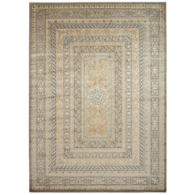 Platine Hand- Woven Beige Area Rug Rug Size: Rectangle 93 x 129