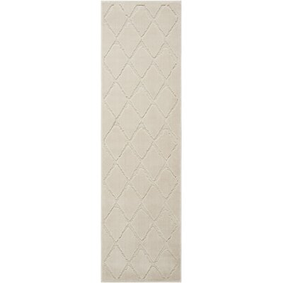 Gleam Ivory Area Rug Rug Size: Runner 22 x 76