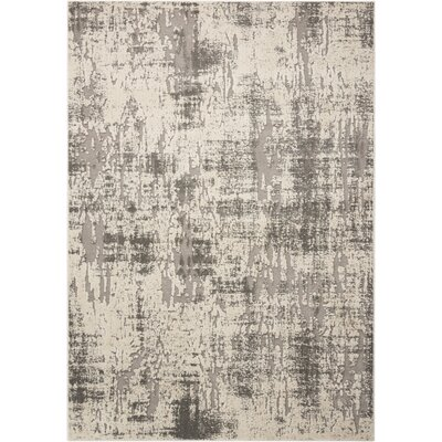 Gleam Ivory/Gray Area Rug Rug Size: Rectangle 310 x 510