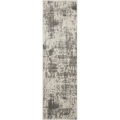 Gleam Ivory/Gray Area Rug Rug Size: Runner 22 x 76