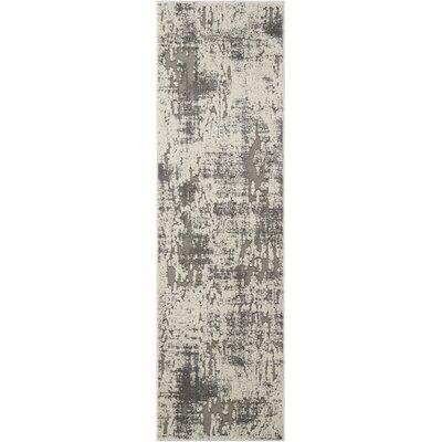 Gleam Ivory/Gray Area Rug Rug Size: Runner 22 x 76