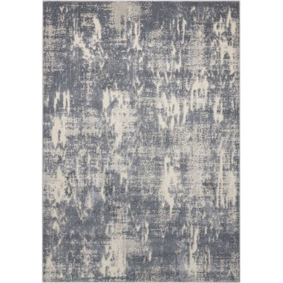 Gleam Slate Area Rug Rug Size: Rectangle 93 x 129