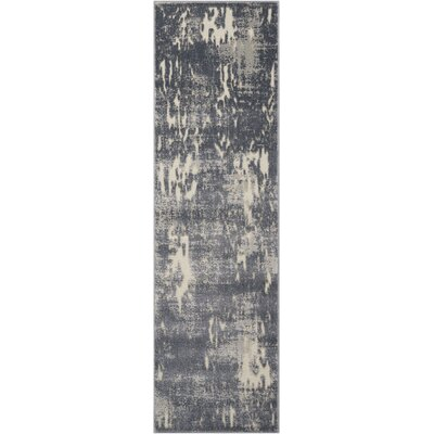 Gleam Slate Area Rug Rug Size: Runner 22 x 76