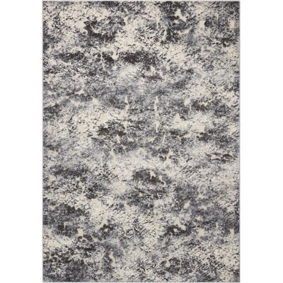 Gleam Ivory/Slate Area Rug Rug Size: Rectangle 53 x 73