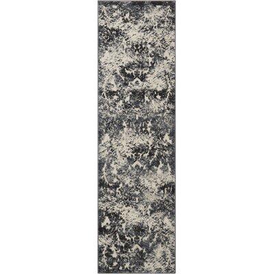 Gleam Ivory/Slate Area Rug Rug Size: Runner 22 x 76