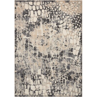 Gleam Flint Area Rug Rug Size: Rectangle 53 x 73