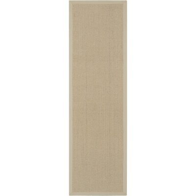 Brilliance Beige Area Rug Rug Size: Runner 23 x 76
