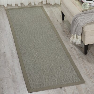 Brilliance Gray Area Rug Rug Size: Runner 23 x 76