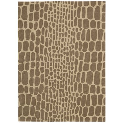 Zambiana Hand-Tufted Brown Area Rug Rug Size: Rectangle 53 x 74