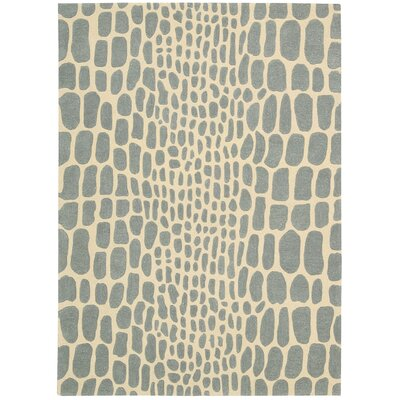 Zambiana Hand-Tufted Aqua Area Rug Rug Size: Rectangle 4 x 6
