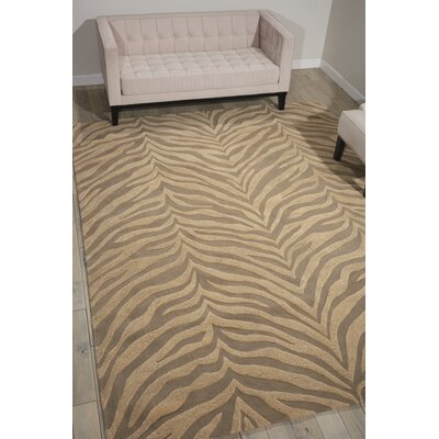 Zambiana Hand-Tufted Ash Area Rug Rug Size: Rectangle 93 x 13