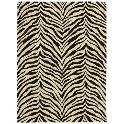Zambiana Hand-Tufted Black/White Area Rug Rug Size: Rectangle 53 x 74