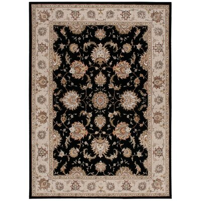 Serenade Handmade Black Area Rug Rug Size: Rectangle 39 X 59
