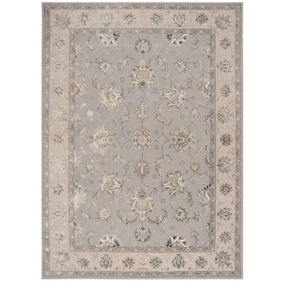Serenade Handmade Gray Area Rug Rug Size: Rectangle 53 X 75