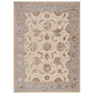 Serenade Handmade Ivory/Gray Area Rug Rug Size: Rectangle 39 X 59