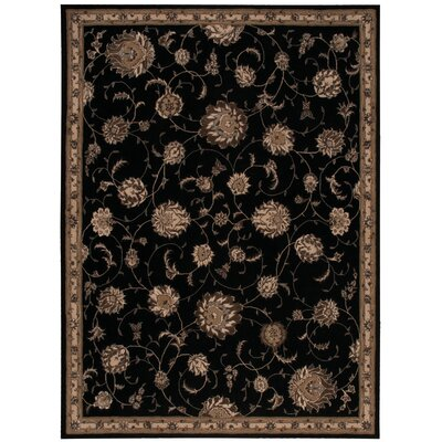 Serenade Handmade Black Area Rug Rug Size: Rectangle 53 X 75