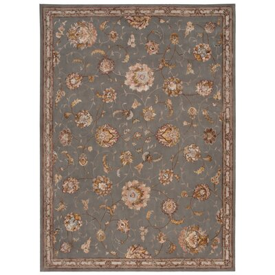 Serenade Handmade Slate Area Rug Rug Size: Rectangle 53 X 75