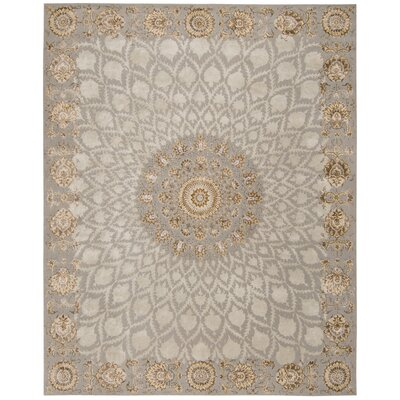 Serenade Handmade Silver Area Rug Rug Size: Rectangle 53 X 75