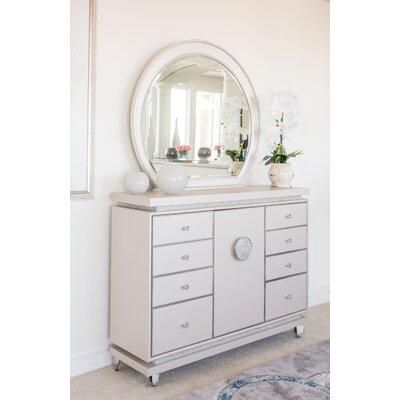 Glimmering Heights 8 Drawer Dresser with Mirror