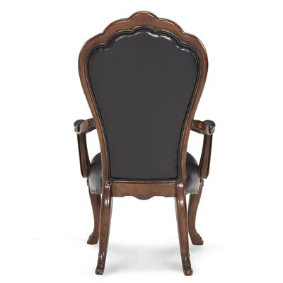 Palace Gates Arm Leather Upholstered Dining Chair