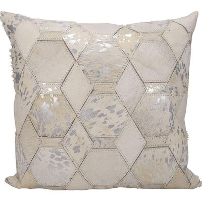 Michael Amini Throw Pillow Color: White/Silver