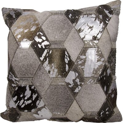 Michael Amini Throw Pillow Color: Gray/Silver
