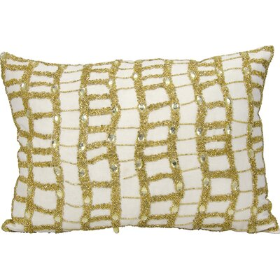 Michael Amini Lumbar Pillow Color: Ivory/Gold