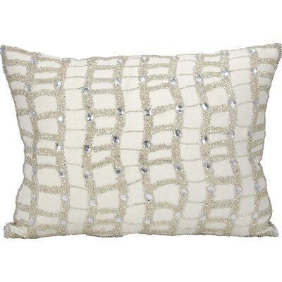 Michael Amini Lumbar Pillow Color: Ivory/Silver