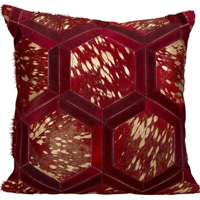 Priyanka Leather Throw Pillow Color: Burgundy