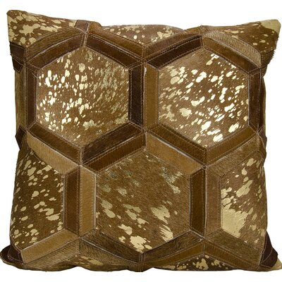 Priyanka Leather Throw Pillow Color: Amber/Gold