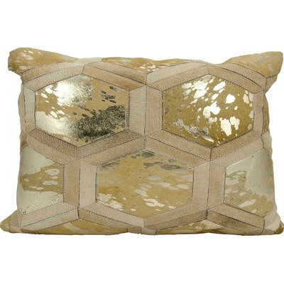Priyanka Leather Throw Pillow Color: Beige