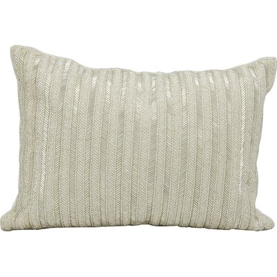 Michael Amini Throw Pillow Color: Silver