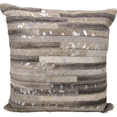 Corben Leather Throw Pillow Color: Gray/Silver