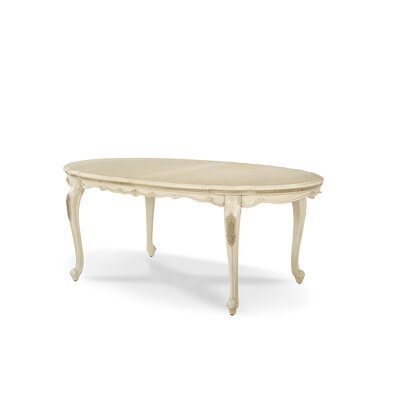 Lavelle Oval Extendable Dining Table Finish: Blanc