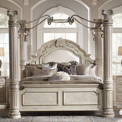 aico monte carlo ii four poster bedroom collection bedroom set mart