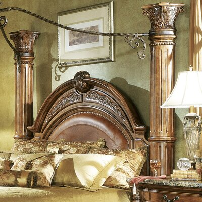 Monte Carlo II Panel Headboard Size: Queen, Color: Caf� Noir